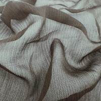 Brown Silk Crinkle Chiffon
